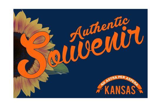 Visited Kansas - Authentic Souvenir-Lantern Press-Art Print