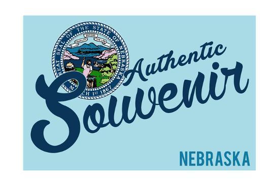 Visited Nebraska - Authentic Souvenir-Lantern Press-Art Print