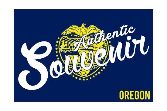 Visited Oregon - Authentic Souvenir-Lantern Press-Art Print