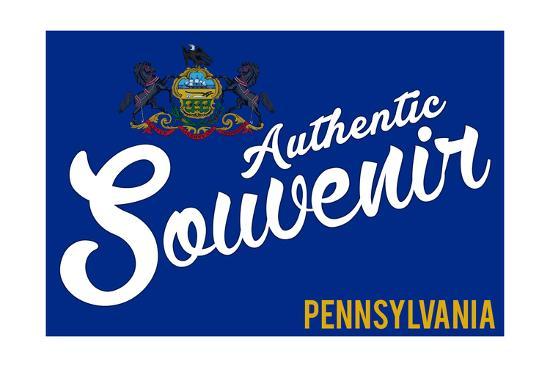 Visited Pennsylvania - Authentic Souvenir-Lantern Press-Art Print