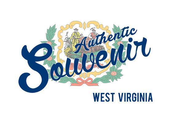 Visited West Virginia - Authentic Souvenir-Lantern Press-Art Print