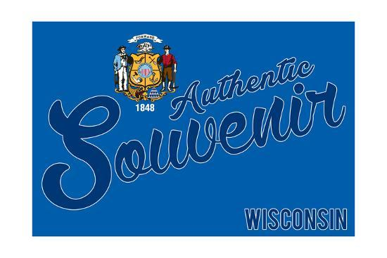 Visited Wisconsin - Authentic Souvenir-Lantern Press-Art Print
