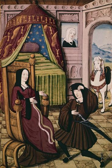 Visiting a Lady, Miniature, France 15th Century--Giclee Print