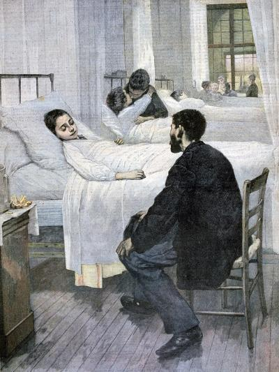Visiting Day at the Hospital, 1893-Henry Jules Jean Geoffroy-Giclee Print