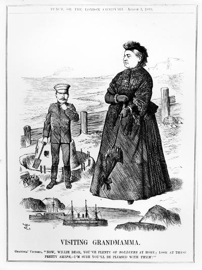 Visiting Grandmamma, Illustration from 'Punch', Published August 3 1889-John Tenniel-Giclee Print