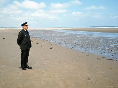 Visiting Normandy For 25th Anniversary D-Day Celebrations is Retired American General Omar Bradley-Bill Ray-Photographic Print