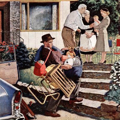"""Visiting the Grandparents"", August 3, 1957-Amos Sewell-Giclee Print"