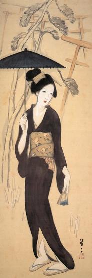 Visiting the Shrine at Inariyama, Japan-Yumeji Takehisa-Giclee Print