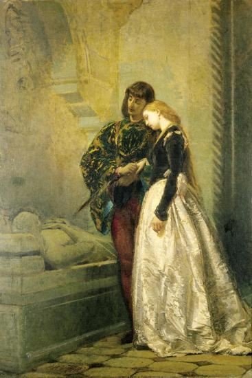 Visiting the Tomb of Romeo and Juliet, 1861-1862-Tranquillo Cremona-Giclee Print