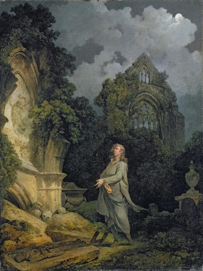Visitor to a Moonlit Churchyard, 1790-Philip James Loutherbourg-Giclee Print