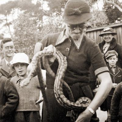 Visitors at Taronga Zoo, Sydney, Australia. 1932--Photographic Print