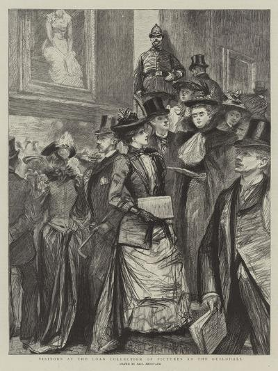 Visitors at the Loan Collection of Pictures at the Guildhall-Charles Paul Renouard-Giclee Print