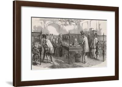 Visitors at the Philo- Peristeron Society's Annual Pigeon Show London--Framed Giclee Print
