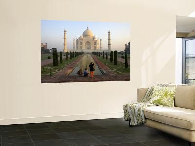 Visitors Taking Photos of Taj Mahal-Johnny Haglund-Wall Mural