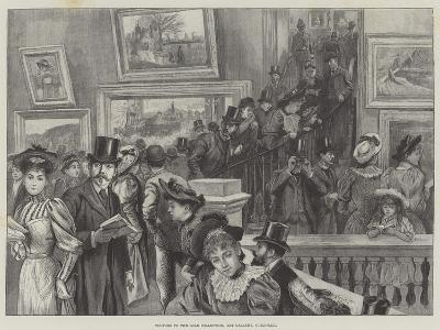 Visitors to the Loan Collection, Art Gallery, Guildhall--Giclee Print