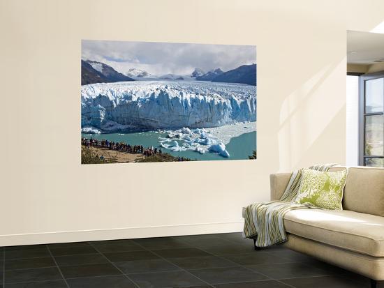 Visitors Viewing Glacier Perito Moreno from Catwalk-Douglas Steakley-Wall Mural