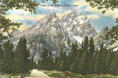 Vista of Majestic Grant Teton--Art Print