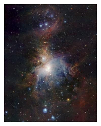 VISTA's infrared view of the Orion Nebula-ESO-Art Print