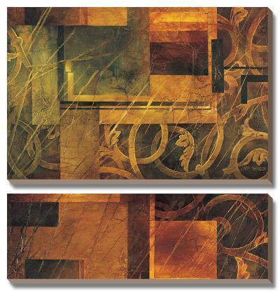 Visual Patterns I-Linda Thompson-Canvas Art Set