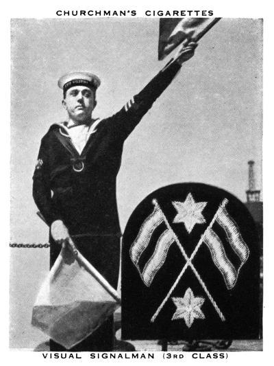 Visual Signalman, (3rd Clas), 1937- WA & AC Churchman-Giclee Print