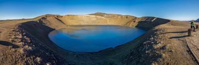 Viti, a huge explosion crater, Northern Iceland.  On March 29, 1875
