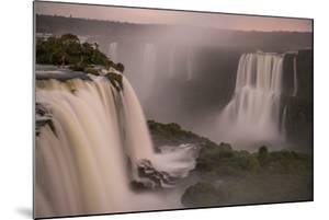 Beautiful Landscape of Waterfall on Long Exposure at Night, Iguazu Falls, Foz Do Iguacu, Parana Sta by Vitor Marigo
