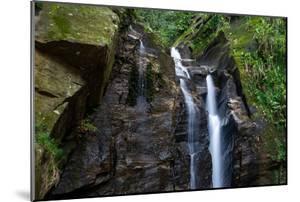 Beautiful Rocky Atlantic Rainforest Waterfall on Green Landscape in Tijuca Park, Rio De Janeiro, Br by Vitor Marigo