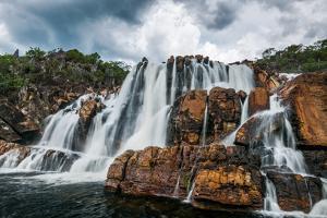 Carioquinhas Waterfall in Chapada Dos Veadeiros National Park, Goias, Brazil by Vitor Marigo