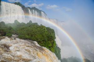 Double Rainbows in Iguazu Falls National Park in Parana State, Border of Brazil and Argentina by Vitor Marigo