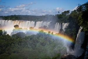 Iguazu Falls in Parana State, in the Border of Brazil and Argentina by Vitor Marigo