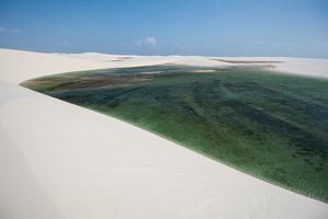 Natural Rainwater Pools in Lencois Maranhenses National Park, Maranhao, Brazil by Vitor Marigo