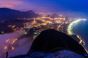 Night View from Morro Dois Irmaos in Rio De Janeiro, Brazil by Vitor Marigo