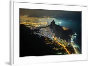 Night View from the Top of Pedra Da Gavea Mountain in Tijuca Forest National Park, Rio De Janeiro, by Vitor Marigo