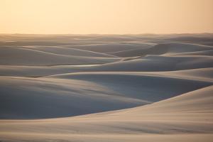 Sand Dunes Landscape in Lencois Maranhenses National Park, Maranhao, Brazil by Vitor Marigo