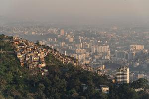 View from Mirante Dona Marta to Prazeres Favela on a Hill Side, Rio De Janeiro, Brazil by Vitor Marigo