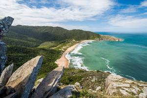 View from Pico Da Coroa to Lagoinha Do Leste Wild Beach in Florianopolis, Santa Catarina State, Sou by Vitor Marigo