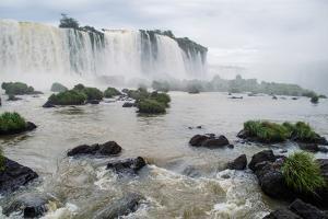 Waterfalls in Iguazu Falls National Park, Border of Brazil and Argentina by Vitor Marigo