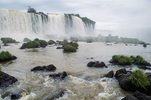 Waterfalls in Iguazu Falls National Park, Border of Brazil and Argentina by Vitor Marigo