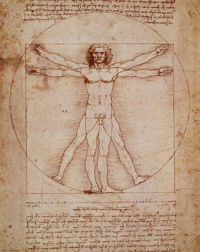 Vitruvian Man, c.1492-Leonardo da Vinci-Art Print