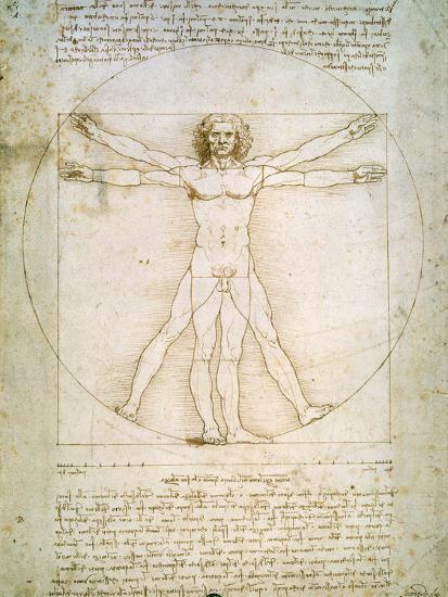 Vitruvian Man, c.1492-Leonardo da Vinci-Premium Giclee Print