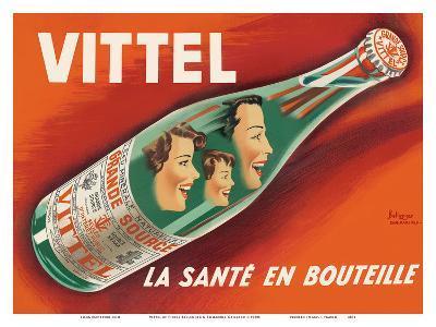 Vittel - La Sante en Bouteille (Bottled Health) - Natural Mineral Water from France-Pierre Bellenger and Emmanuel Gaillard-Art Print