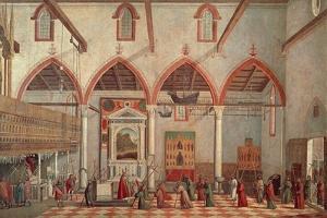 Apparition of Crucified of Mount Ararat in Sant'Antonio Di Castello Church by Vittore Carpaccio