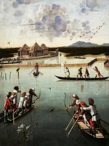 Hunting on the Lagoon, c.1490-5 by Vittore Carpaccio