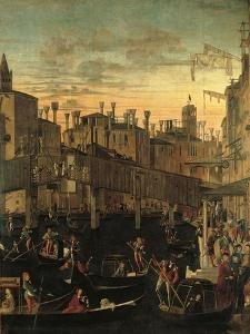 Miracle of the Relic of the True Cross at the Rialto Bridge Or the Healing of the Possessed Man by Vittore Carpaccio