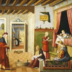 Nativity of Virgin, 1504-1508 by Vittore Carpaccio