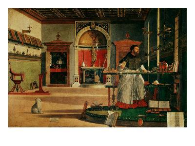 Saint Jerome (341-420) in his Study