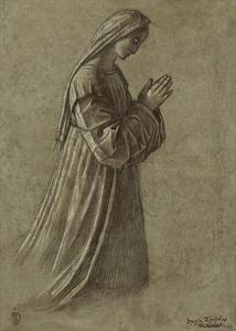 Study of the Virgin (recto); Study of the Virgin and of Hands (verso) by Vittore Carpaccio