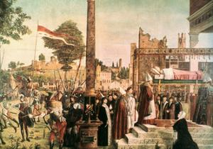 The Legend of St. Ursula: Martyrdom and Funeral of St. Ursula, 1493 by Vittore Carpaccio