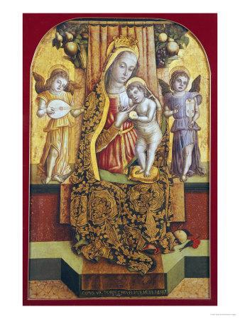 The Madonna and Child Enthroned with Music-Making Angels