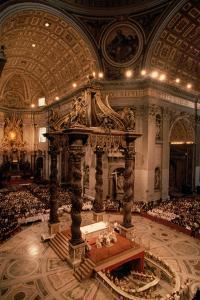 Interior of St Peter's Basilica by Vittoriano Rastelli